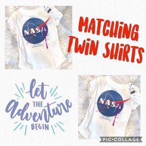 Twin NASA Future Astronaut Shirt 4T